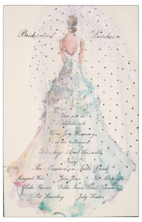 The Gown Invitation   bridal shower invitations to order