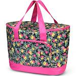 Zodaca Women Large Leak Resistant Cooler Bag Tote Carry Bag for Park Beach Picnic Camping - Multi Floral