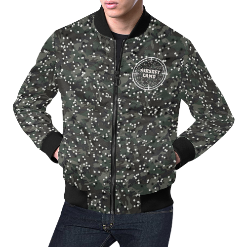 airsoft camo All Over Print Bomber Jacket for Men (Model H19)