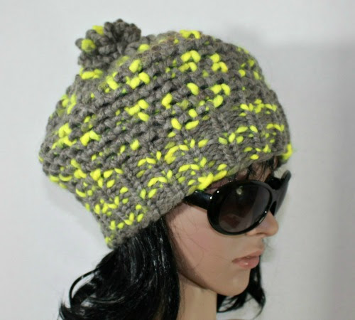 Mock Crochet Stitch Loom Knit Hat Pattern And Video Httpwww