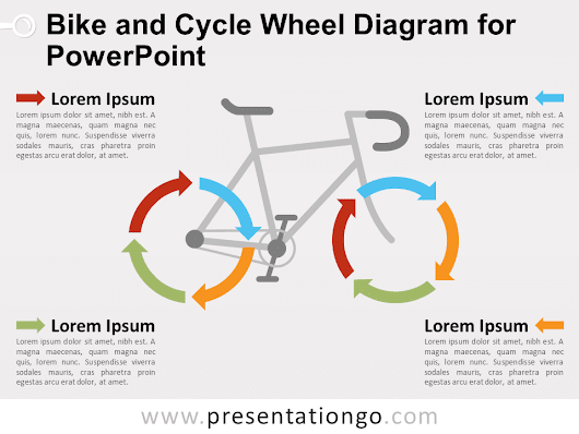 Bike and Cycle Wheel Diagram for PowerPoint - PresentationGO.com