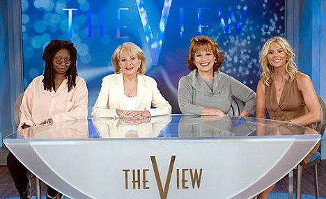 Hosts: (l-r) Whoopi Goldberg, Barbara Walters, Joy Bahar and Elisabeth Hasselbeck on The View