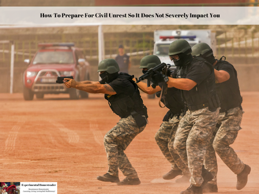 How To Prepare For Civil Unrest So It Does Not Severely Impact You - Experimental Homesteader