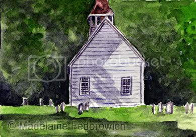 Little White Chruch ACEO