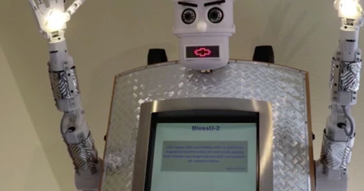Robot 'priest' can beam light from its hands and give automated blessings to worshippers