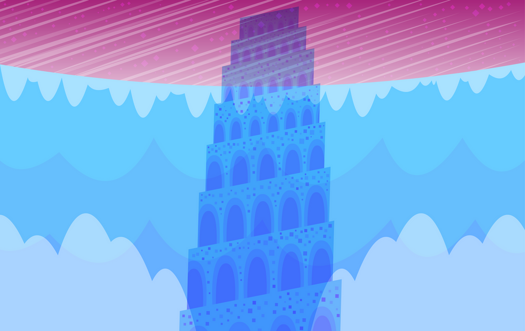 Birthday present that I made for my Sister's Birthday based off of the Lunar Sea Spire from Steven Universe.
