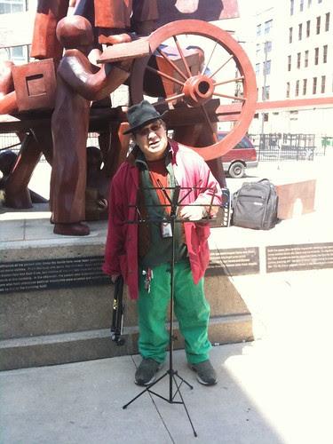 A poet & union member speaking