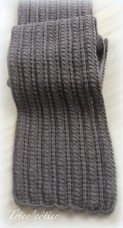 Brrrr!  Para contrarrestar el frío!  Bufanda y TUTO