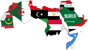 English: Map of Arabic-speaking countries.