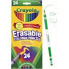Crayola Erasable Colored Woodcase Pencils, 3.3 mm - 24 count