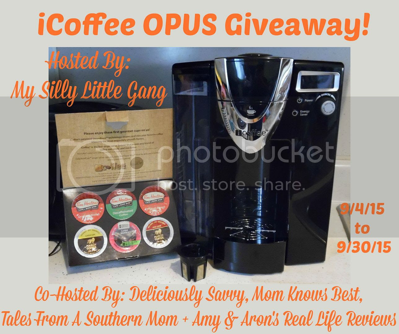 Enter the iCoffee OPUS Giveaway. Ends 9/30
