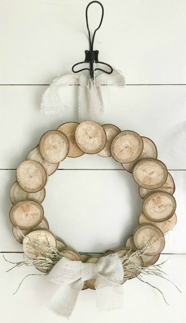 Wood Slice Wreath by Twelve on Main