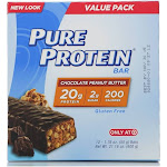 Pure Protein Chocolate Peanut Butter Bars - 12 count, 1.76 oz each