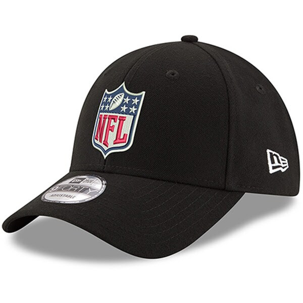 Mens NFL Shield New Era Black Logo 9FORTY Adjustable Hat NFLShop.com