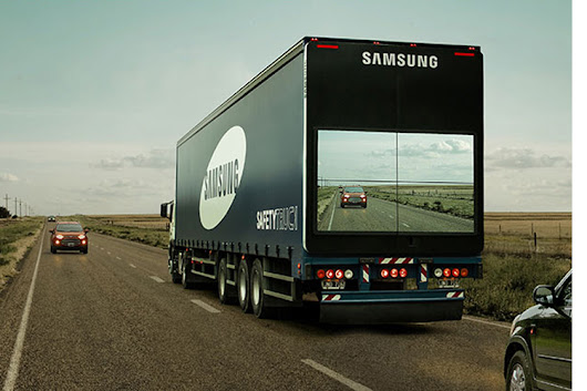 Watch: How Samsung's 'see-through' truck can help other drivers decide if it's safe to overtake