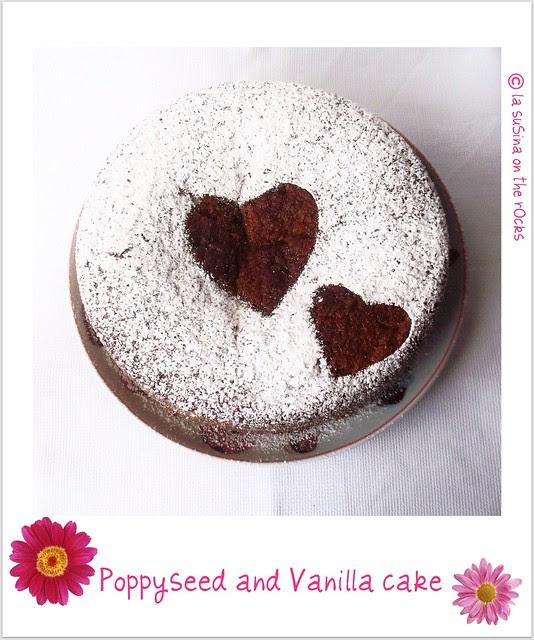 poppyseed and vanilla cake