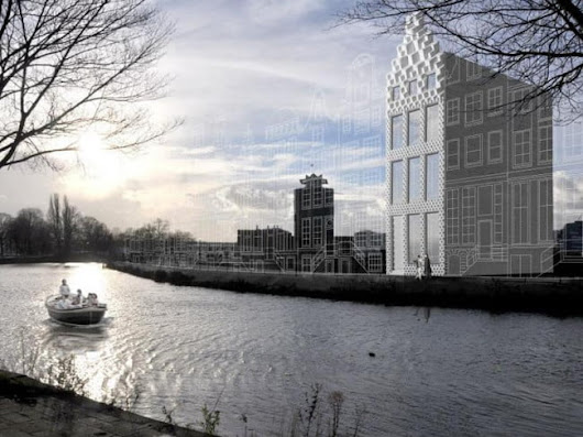 A full-size 3D-printed house is under construction in Amsterdam
