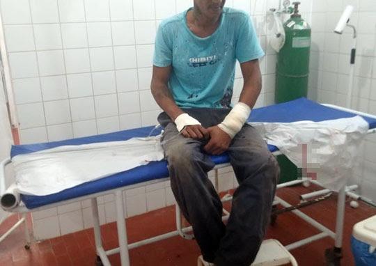 Vítima foi baleada no antebraço esquerdo | Foto: Notícias de Santaluz