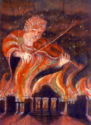Nero fiddling while Rome burns.