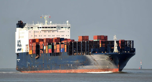Container ship back on course after engine failure