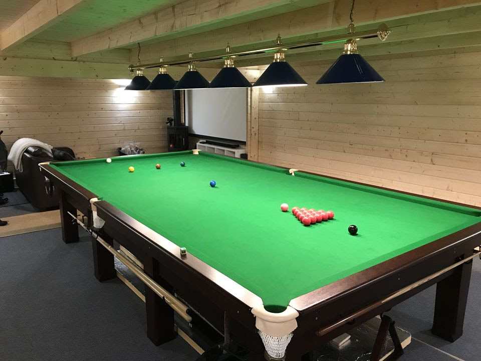 The Ultimate Snooker Man Cave Keops Interlock Log Cabins