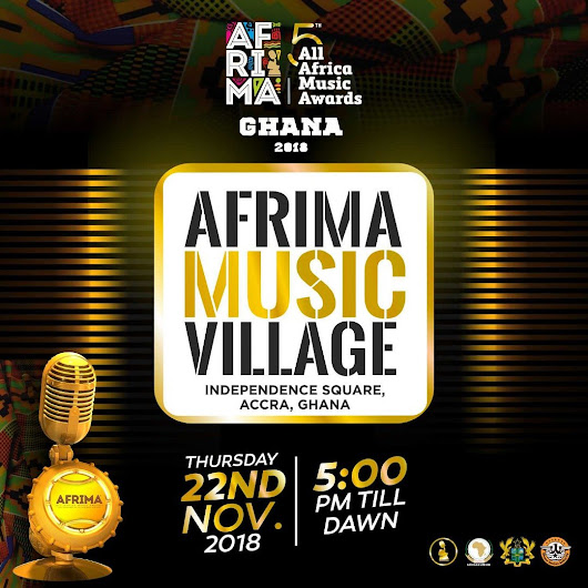 AFRIMA Music Village Is November 22nd, 2018.