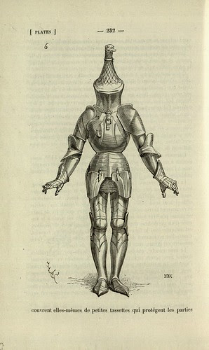 Eccentric helmet and suit of armour