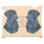 black labrador dog portrait realist art iPad covers