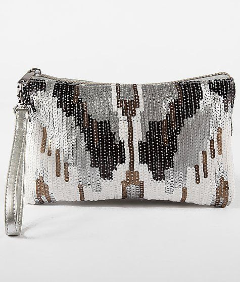 Buckle BKE Sequin Clutch