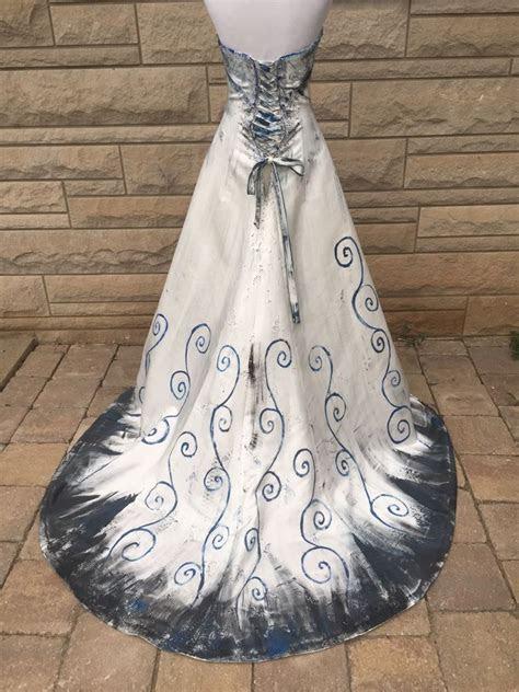 The Corpse Bride Wedding Dress Halkoween Costume Strapless