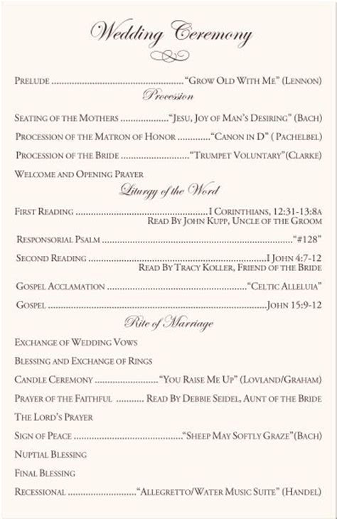 25  Best Ideas about Catholic Wedding Programs on