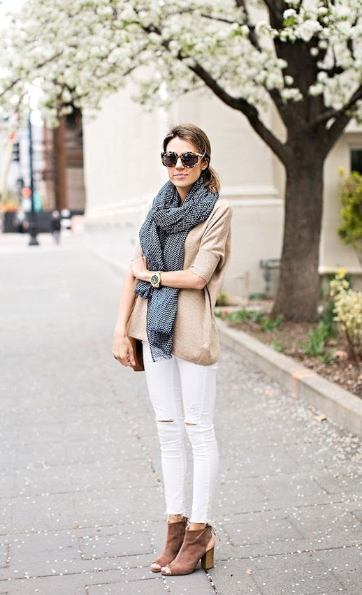 11 Le Fashion Blog 30 Fresh Ways To Wear White Jeans Scarf Tan Sweater Open Toe Boots Via Hello Fashion photo 11-Le-Fashion-Blog-30-Fresh-Ways-To-Wear-White-Jeans-Scarf-Tan-Sweater-Open-Toe-Boots-Via-Hello-Fashion.jpg