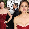 That's lucky! Jennifer Garner narrowly escapes embarrassing Golden Globes wardrobe malfunction as dress slips down to expose a little too much chest