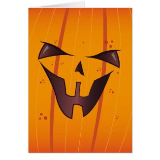 Pumpkin Face Cards