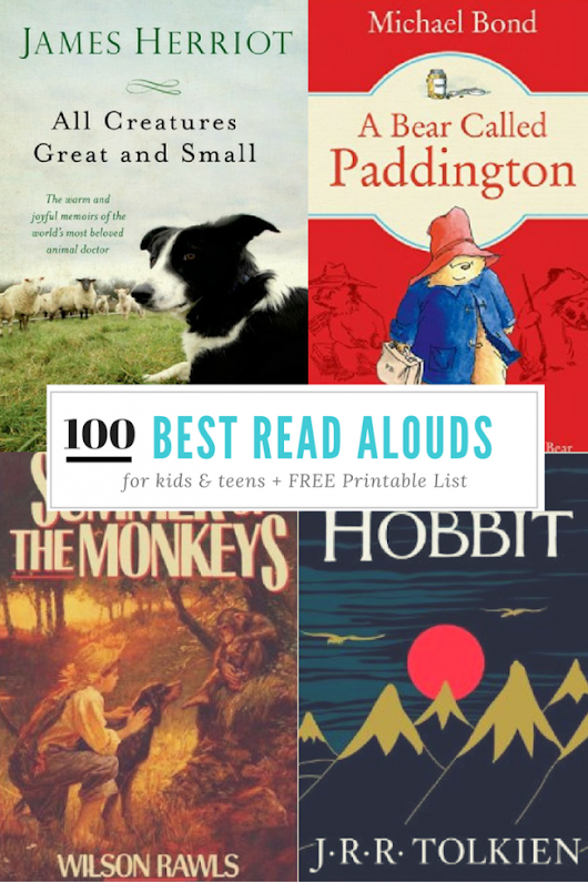 100 Books to Read Aloud Before Your Child Graduates + FREE Printable Checklist - Kids Activities | Saving Money | Home Management | Motherhood on a Dime