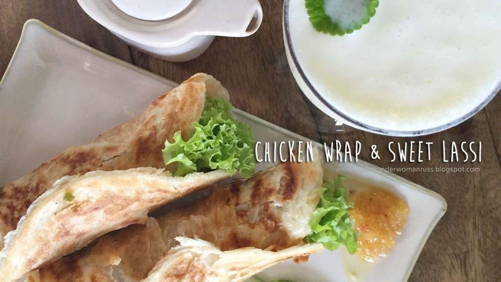 Chicken Wrap + Greek Lassi