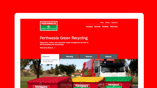 Custom website design for Perthwaste