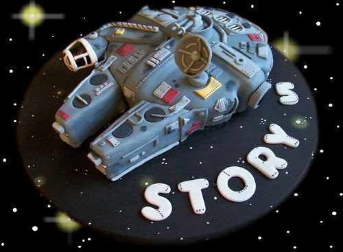 Star Wars Millenium Falcom Cake (Story's Birthday)