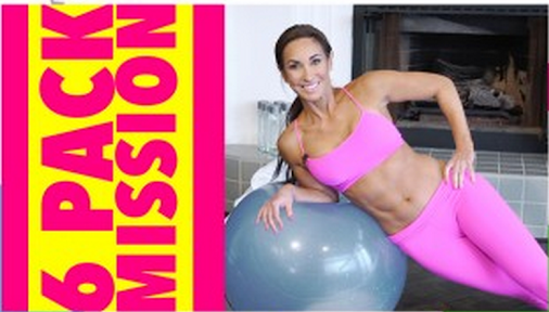 Flat belly workout! This time with a stability ball :) Want to do it with me? …