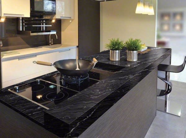 Latest Trend: Kitchens with black granite countertops in ...