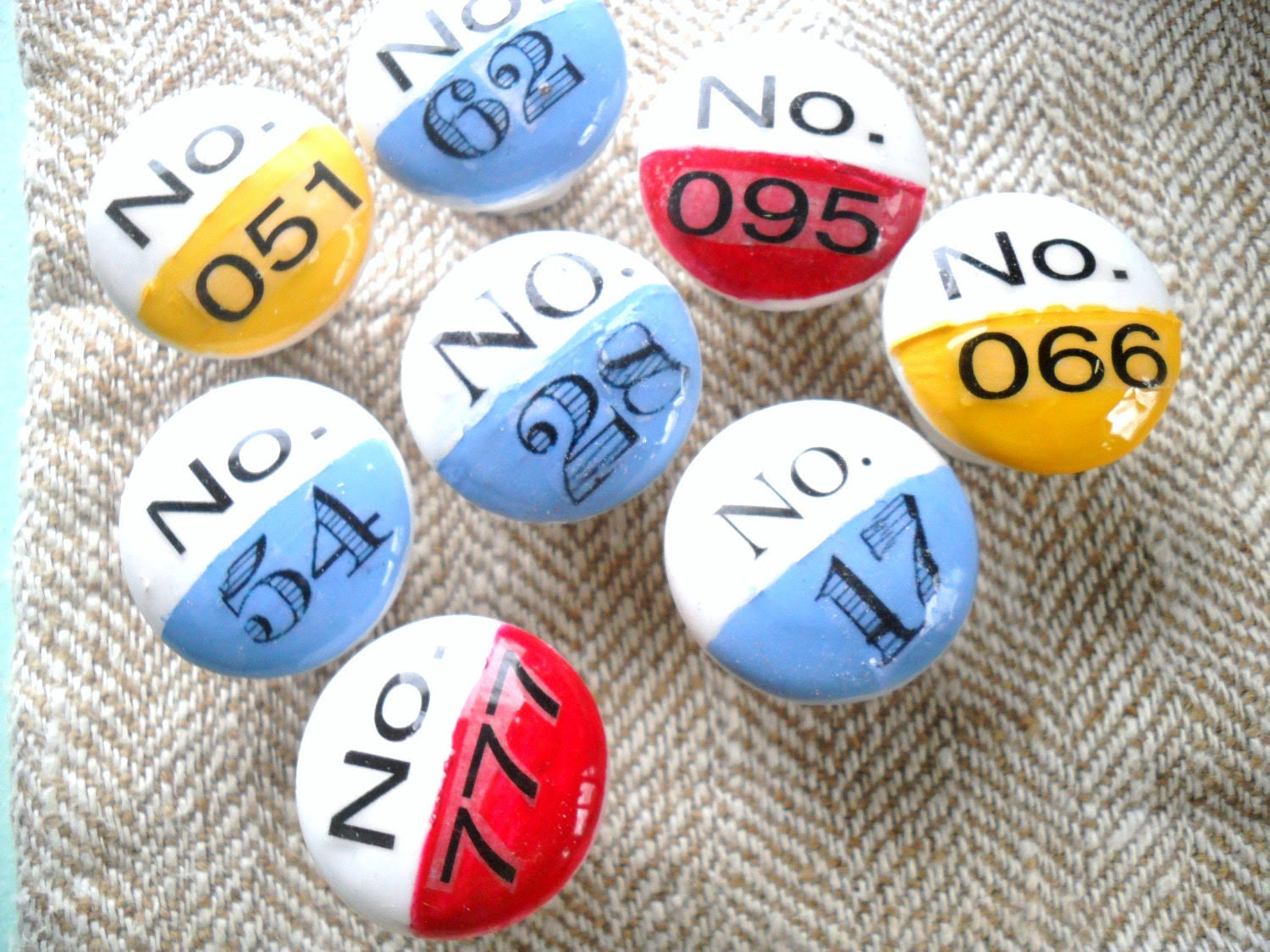 Vintage Inspired Custom Lucky Number Drawer Pulls In A Treasury