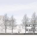 Pontivy Media Library / Opus 5 architectes West Elevation