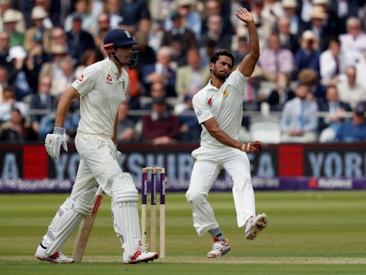 Hasan Ali stars as England lose three in opening session