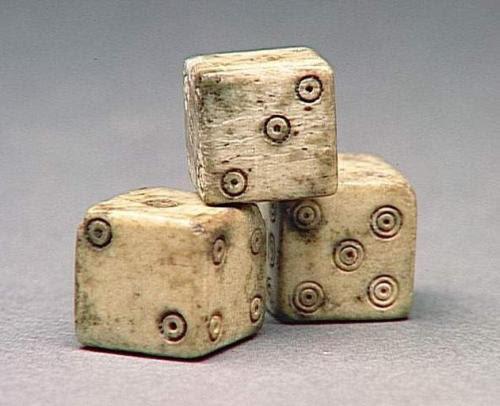 Dice Roman, 1st century AD Musée Condé
