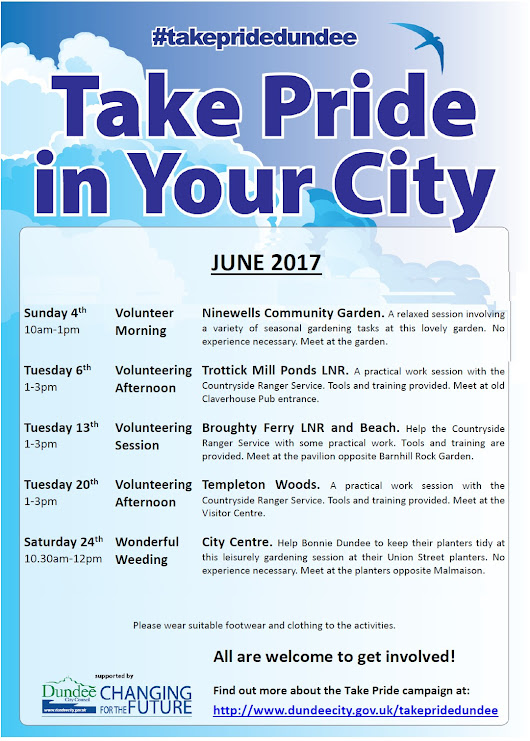Take pride in your city events – June #takepridedundee    #dundee