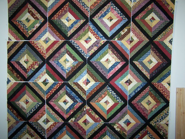 Custom Scrappy Strip Quilt in Thimbleberries