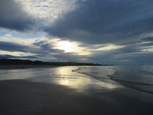 The beach at Bamburgh – late afternoon 2nd August 2018