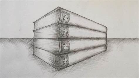 draw  stack  books book drawing drawing