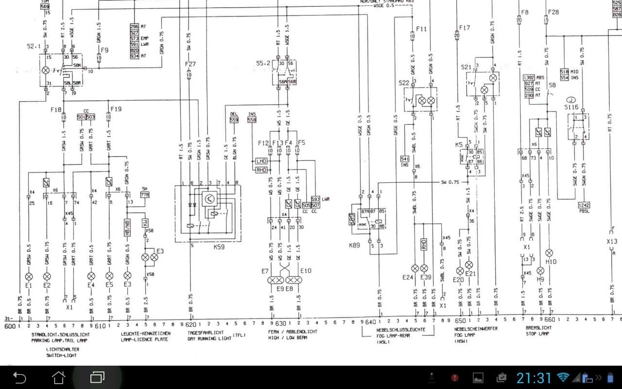 Stromlaufplan Astra G Z20let