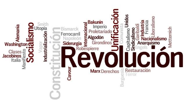 Nube léxica sobre las revoluciones del siglo XIX